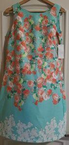 Pique Alone Aqua Dress